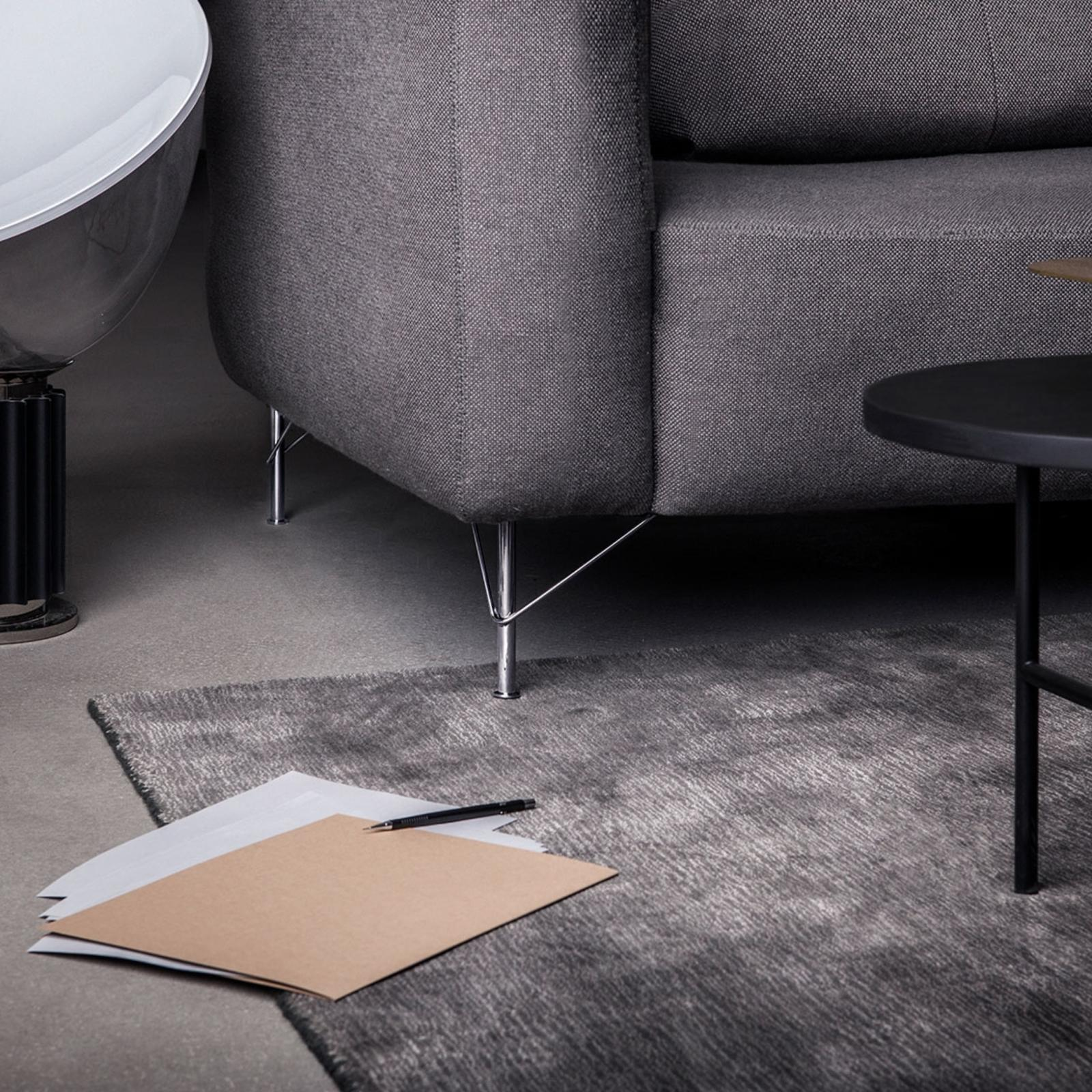 Uncluttered sofa legs in shiny metal, designed by Superfront